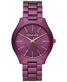 Women's Slim Runway Purple Aluminum Bracelet Watch 42mm, Created for Macy's