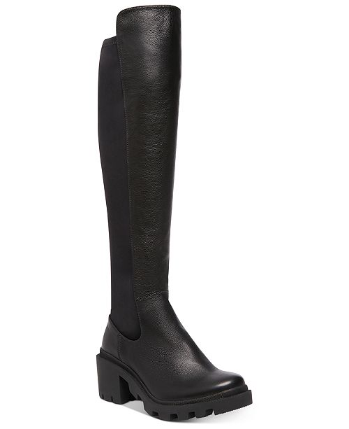 Steve Madden Women's Rino Lug Over-The-Knee Boots