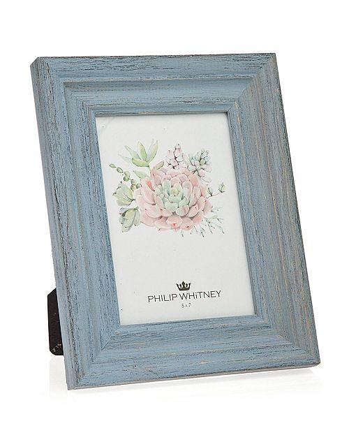 """Philip Whitney Light Blue Wood Frame - 5"""" x 7"""""""