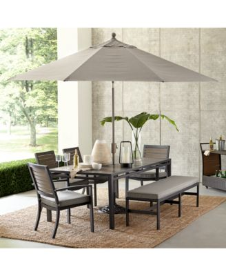 Marlough II Aluminum Armless Dining Bench with Sunbrella Cushion, Created for Macy's