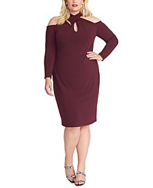 Trendy Plus Size Simone Cold-Shoulder Dress