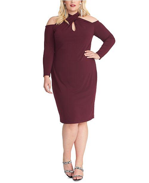 RACHEL Rachel Roy Plus Size Simone Cold-Shoulder Dress