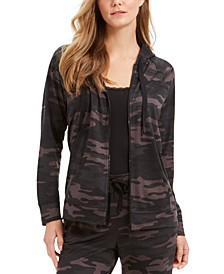 Plus Size Camo-Print Hoodie, Created for Macy's
