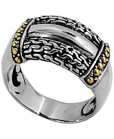 Bali Heritage Signature Ring in Sterling Silver and 18k Yellow Gold Accents