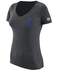 Women's Kentucky Wildcats Tri-Blend V-Neck T-Shirt