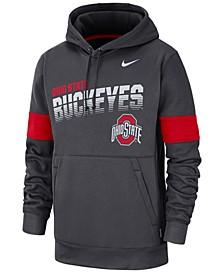 Men's Ohio State Buckeyes Therma Sideline Hooded Sweatshirt