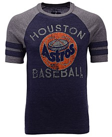 Men's Houston Astros Coop Stripes Earned Raglan T-Shirt
