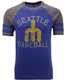 Men's Seattle Mariners Coop Stripes Earned Raglan T-Shirt