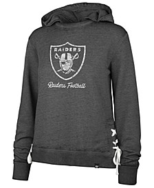 Women's Oakland Raiders Lace Up Hoodie