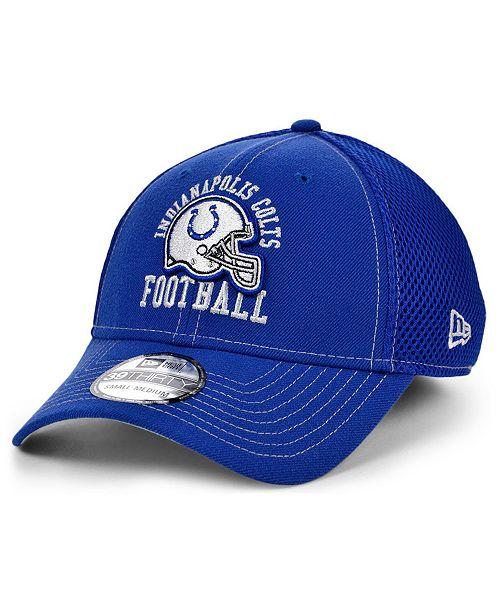 New Era Indianapolis Colts Vintage Helmet Neo 39THIRTY Cap