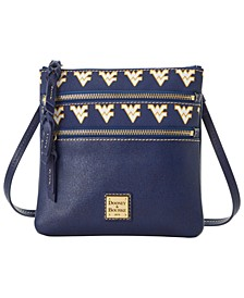 West Virginia Mountaineers Saffiano Triple Zip Crossbody