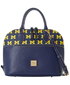 Michigan Wolverines Saffiano Zip Satchel