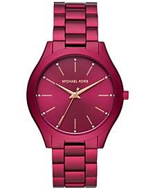 Women's Slim Runway Berry Aluminum Bracelet Watch 42mm, Created for Macy's