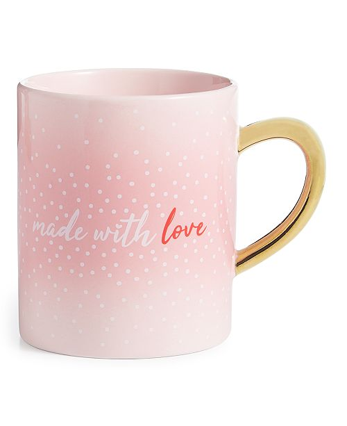 Martha Stewart Collection Valentine's Day Made With Love Mug, Created For Macy's