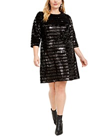 INC Plus Size Sequin Sheath Dress, Created For Macy's