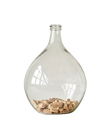 Large Decorative Glass Bottle