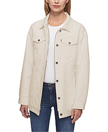 Cotton Oversized Trucker Jacket