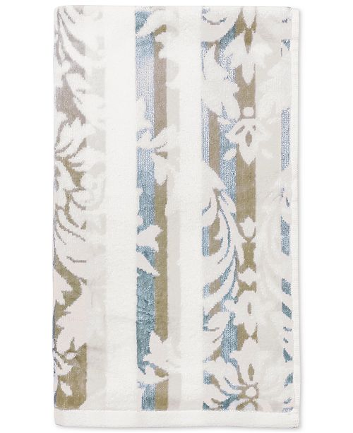 "CHF CLOSEOUT! Damask Stripe Cotton 16"" x 28"" Hand Towel"