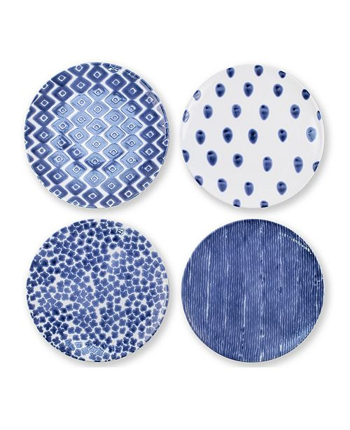 VIETRI Santorini Assorted Dinner Plates - Set of 4
