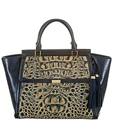 Taylor Gold Cosmos Leather Satchel