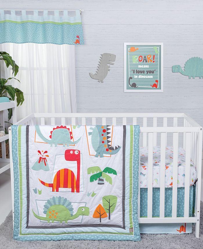 Trend Lab - Dinosaur Roar 3-Piece Crib Bedding Set