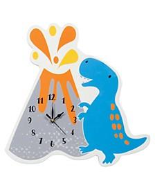 Dinosaur Volcano Wall Clock