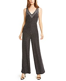 Studded Metallic Sleeveless Jumpsuit, Created For Macy's