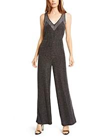 Studded Metallic Sleeveless Jumpsuit, Created For Macy's