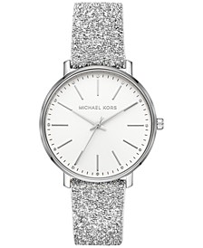 Women's Pyper Swarovski® Crystal Leather Strap Watch 38mm