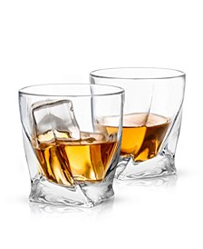 Atlas Old Fashioned Whiskey Glasses Set of 2