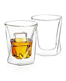 Lacey Double Wall Whiskey Glasses Set of 2
