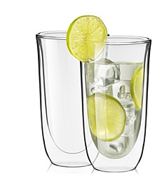 Spike Double Wall Glasses Set of 2