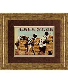 "Café Saint Jean by Kyle Mosher Framed Print Wall Art, 34"" x 40"""
