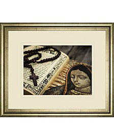 "Rosary in Bible by Kbuntu Framed Print Wall Art, 34"" x 40"""