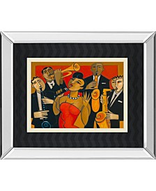 """The Diva and Her Horn Section by Marsha Hammel Mirror Framed Print Wall Art, 34"""" x 40"""""""
