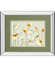 "White Bright Poppies by Novak Mirror Framed Print Wall Art, 34"" x 40"""
