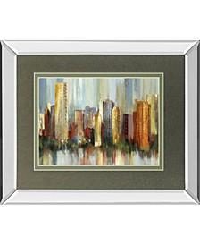 "Metropolis by Tom Reeves Mirror Framed Print Wall Art, 34"" x 40"""