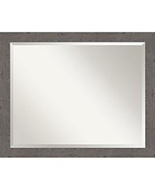 "Rustic Plank Framed Bathroom Vanity Wall Mirror, 31.25"" x 25.25"""