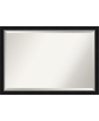 "Eva Silver-tone Framed Bathroom Vanity Wall Mirror, 39.12"" x 27.12"""