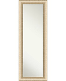 """Elegant Brushed Honey on The Door Full Length Mirror, 18.75"""" x 52.75"""""""