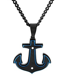 Men's Anchor Pendant Necklace