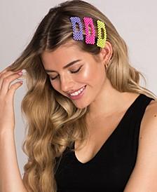 Beaded Neon Hair Clip 3 Piece Set