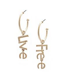 Live Free Hoop Earrings