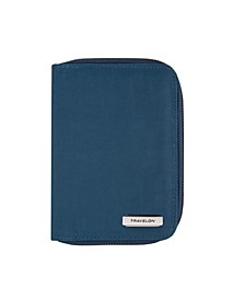 RFID Blocking Passport Zip Wallet