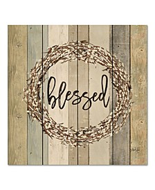 "Blessed Wreath 12"" x 12"" Wood Pallet Wall Art"