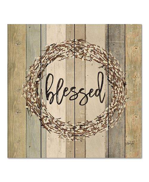 """Courtside Market Blessed Wreath 12"""" x 12"""" Wood Pallet Wall Art"""