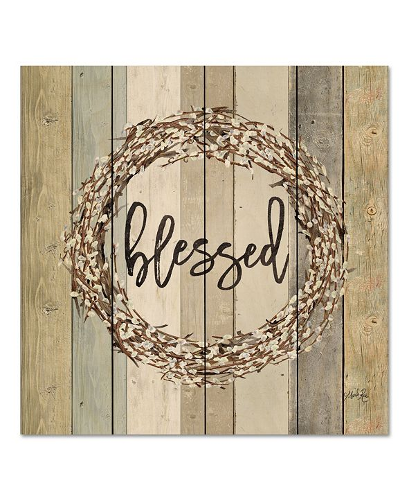 "Courtside Market Blessed Wreath 12"" x 12"" Wood Pallet Wall Art"