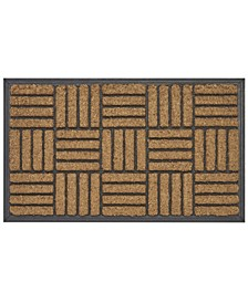 """Rubber Backing Criss Cross Coco Welcome Doormat, 18"""" x 30"""""""
