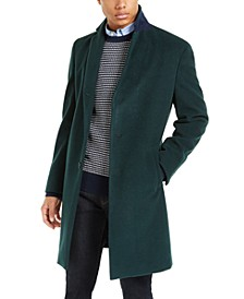 Addison Wool-Blend Trim Fit Overcoat