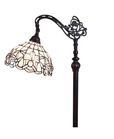 Tiffany Style Floral Design Floor Reading Lamp